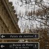 Sign To Palais De Justice