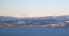 The Skarvan Mountains Seen