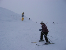 Skiier At Coronet Peak