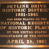 Skyline Drive Historic District Marker