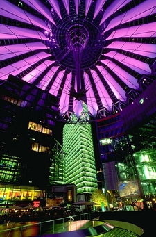 Sony Center At Night