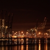 The Container Port At Night