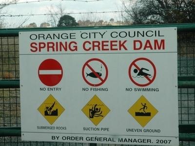 Spring  Creek  Reservoir Sign