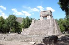Acatitlan Pyramid, Looking North
