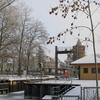 Stadtschleuse On Brandenburg City Canal In Winter