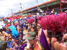 Stage Crossing At Trinidad Carnival