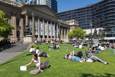 Library From The Left Side Facing Swanston Street