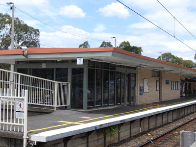 Station Building On The Island Platform