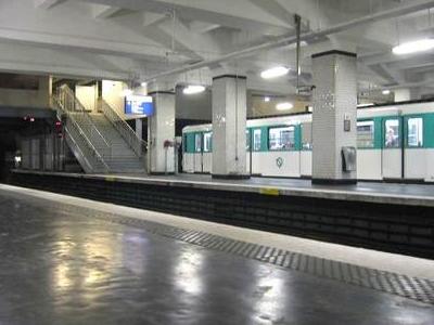 Line 9 Platforms At Porte De Saint-Cloud