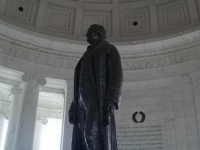 Statue Inside Of  Jefferson  Memorial