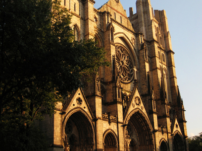 The Western Facade Of Cathedral