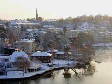 Stora Essingen During Winter
