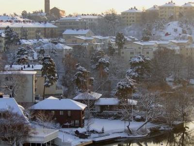 Stora Essingen During Winter