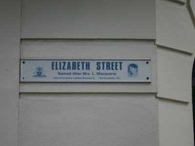 Street Sign In Mall