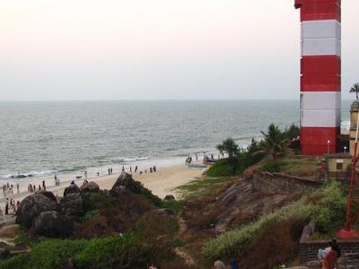 Lighthouse Alongside Surathkal Beach