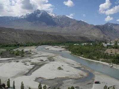 Suru River At Kargil Town