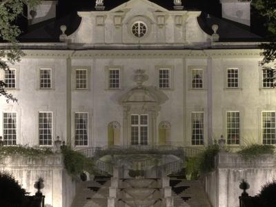 Swan House At Night