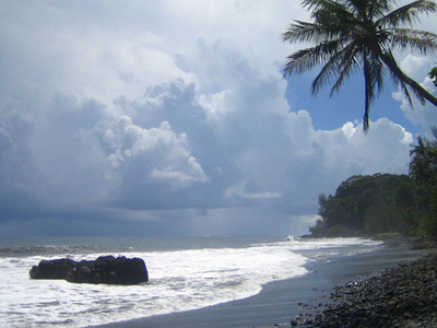 Tahiti Is Famous For Back Sand Beaches