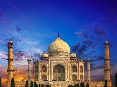 Taj Mahal - Evening View
