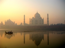 Taj Mahal Reflecting Inside Yamuna Waters