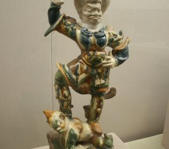 Tang  Dynasty Sancai Pottery Lokapala Tomb Guardian