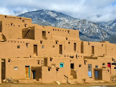 Taos Pueblo Town View - New Mexico