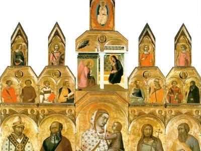 Tarlati  Polyptych   Pietro  Lorenzetti  Pieve Di Santa  Maria
