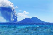 Tavurvur Volcano Eruption - Papua New Guinea