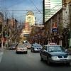 Taxis In Shanghai Street
