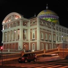 Teatro Amazonas At Night