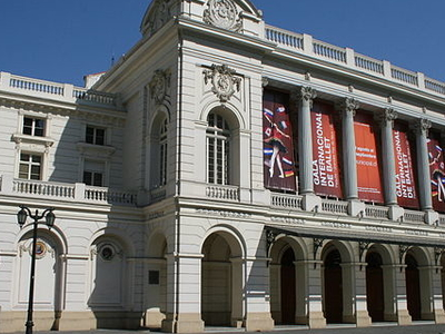 Teatro Municipal De Santiago Opposite Palace