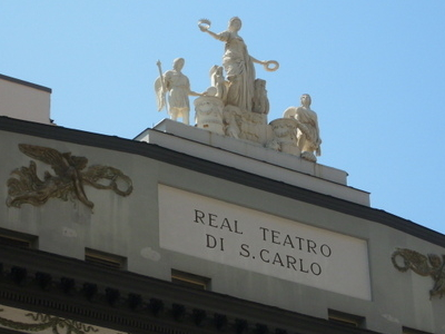 Inscription And Statues On The Facade