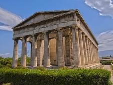 Temple Of Hephaistos In Athens Acropolis