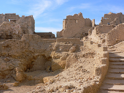 Temple Of The Oracle In Siwa Desert