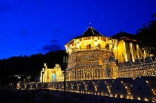 Temple Of The Tooth In Kandy - Night View