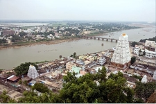 Temple View With River