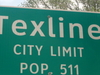 Texline Texas City Limit Sign