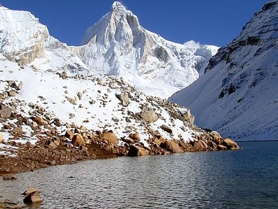 Thalay Sagar Peak From Kedartal In The West