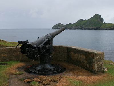 The 4-inch QF Gun On Hirta