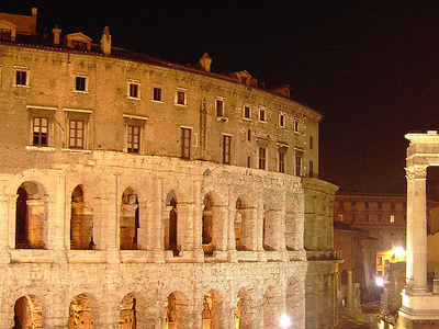 Theater Of Marcellus By Night