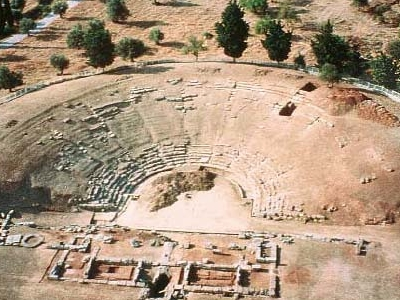 The Ancient Theatre Of Eretria.