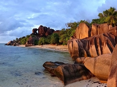 The Beach Of Anse Source D'Argent On La Digue