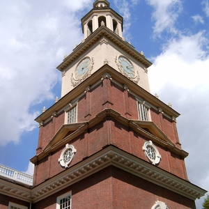 The Bell Tower On Top Of Independence Hall