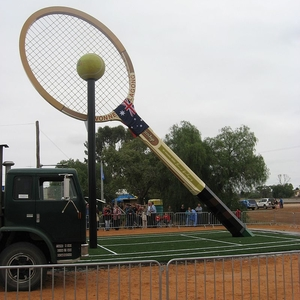 Another View Of Big Tennis Racquet