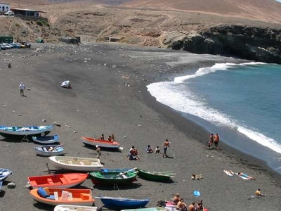 The Black-Sand Beach At Ajuy
