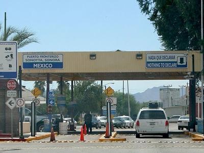 The Border Crossing At Sonoyta