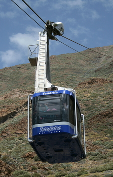 The Cable Car On Teide
