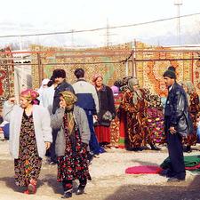 The Carpet Bazaar In Dushanbe