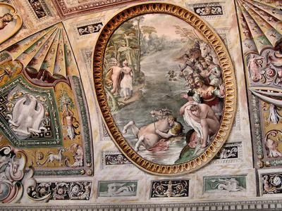 The Ceiling Frescos Of The Villa