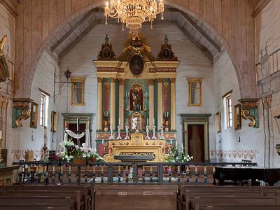 The Chapel Interior At Mission San José